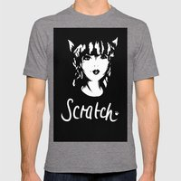 Scratch Mens Fitted Tee Tri-Grey SMALL
