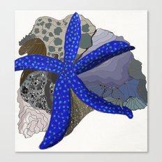 starfish + coral Canvas Print
