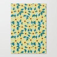 Gerbera Blue Canvas Print