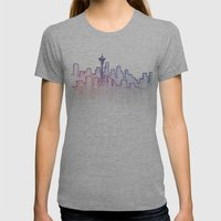 Seattle Womens Fitted Tee Athletic Grey SMALL