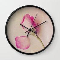 Hazy Rose Wall Clock