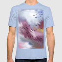 Tears and clouds Mens Fitted Tee Tri-Blue SMALL