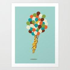 Floating Away Art Print
