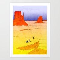 Spelunk Landing Art Print