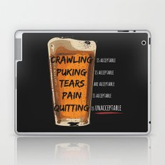 Quitting is Unacceptable Laptop & iPad Skin