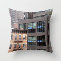 Buildings in NYC Throw Pillow