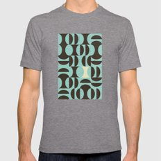 Half And Half II Mens Fitted Tee Tri-Grey SMALL