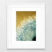 Ocean Blue Dandy Sparkles Framed Art Print