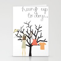 Hung Up To Dry... Stationery Cards