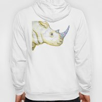 Striped Rhino Illustration Hoody
