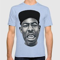 IFHY (Tyler The Creator) Mens Fitted Tee Tri-Blue SMALL
