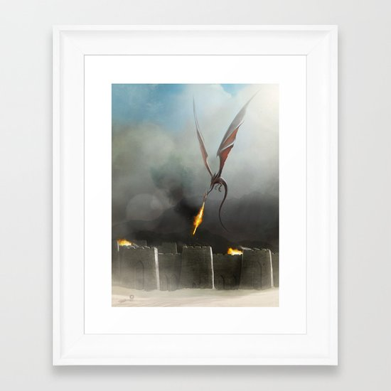 Desert Dragon Framed Art Print