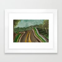 nowhere roads Framed Art Print