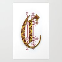 C - monogram Art Print