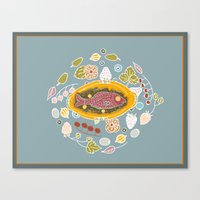 Dinner Table Wake Canvas Print