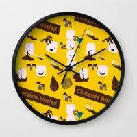 Chocolate Wasted (yellow… Wall Clock