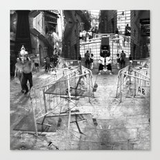 Summer space, smelting selves, simmer shimmers. 22, grayscale version Canvas Print