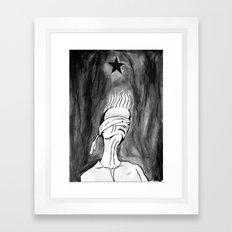 Lazarus 2 - Bowie Blackstar tribute, version Framed Art Print