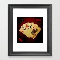 Poker De Reyes (Dirty Po… Framed Art Print