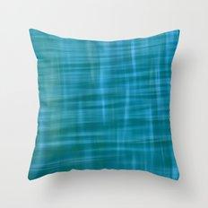Pacific Ocean Blues Throw Pillow