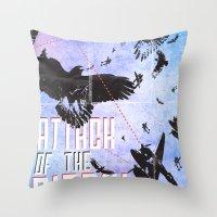 Attack Of The Birds! Throw Pillow