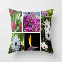 Collage Of Maderian Flow… Throw Pillow