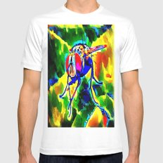 Trippy Fly SMALL Mens Fitted Tee White