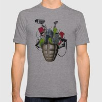 Le troisième oeil Mens Fitted Tee Athletic Grey SMALL