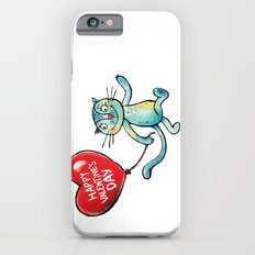 Happy Valentine's Day - Balloon heart and a kitten Slim Case iPhone 6s