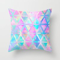 Pink Pastel Aztec Patter… Throw Pillow