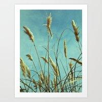 Aesthetic grass Art Print
