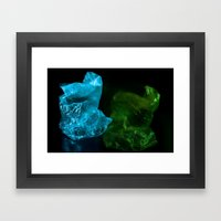 Recycling Plastic Framed Art Print