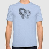 A Story To Tell :: A Beagle Puppy Mens Fitted Tee Athletic Blue SMALL