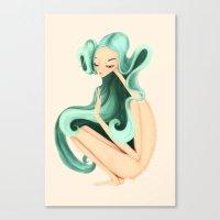 Weird Girl Canvas Print