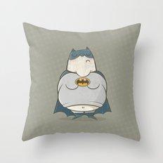 Too Fat To Bat Throw Pillow