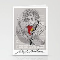 Beethoven In Musica Stationery Cards