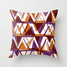 Purple & Orange zig zags Throw Pillow
