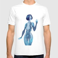 Cortana Mens Fitted Tee White SMALL