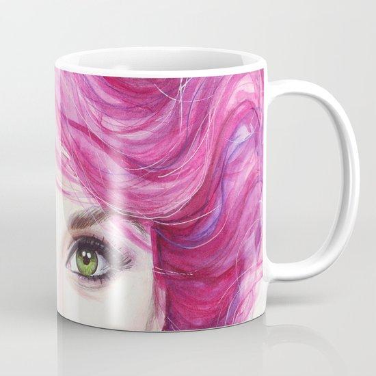 Pink Hair Mug