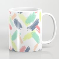 Hand painted summer pastel brushstrokes pattern Mug