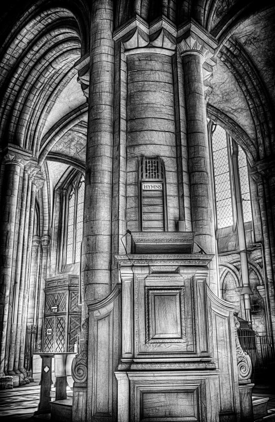 Pulpit in Black and White Art Print