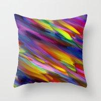 Colorful digital art splashing G398 Throw Pillow