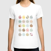 Apples Galore Womens Fitted Tee White SMALL