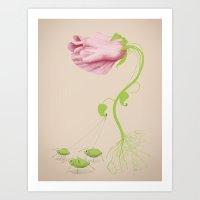 Wild Flowers: Be The Flo… Art Print