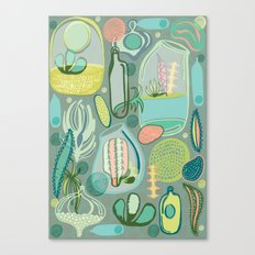 Cacti Terrariums Canvas Print