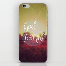 God is Faithful iPhone & iPod Skin