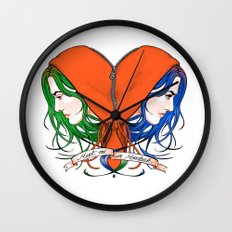 Clementine's Heart Wall Clock