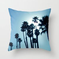 Santa Cruz - Blue  Throw Pillow