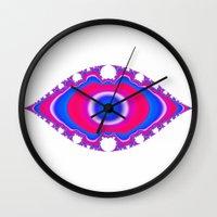 Pink Eye Wall Clock