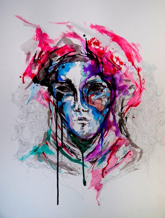 Masq Canvas Print